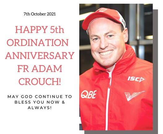 Fr Adam Crouch 05th Ordination Anniversary