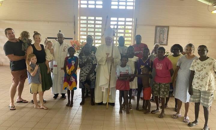 Adult & children's Baptisms + Adult Confirmations at Pirlangimpi